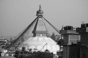 Buddhistischer Stupa in Boudha vor ...
