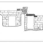 Planunterlage für den Bauteilversatz, hier: Ostansicht Westmauer Westchalkidikum