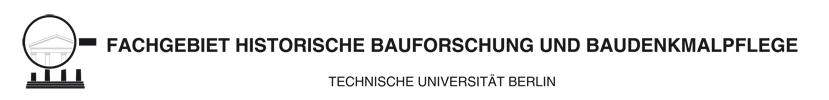 Fachgebiet Historische Bauforschung und Baudenkmalpflege